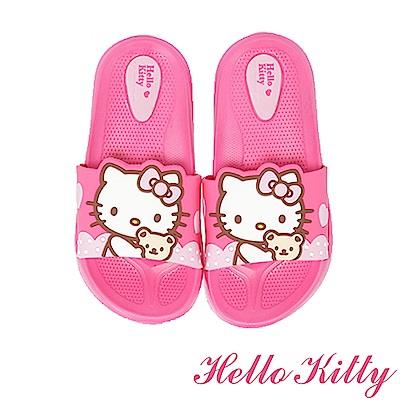 (雙11)HelloKitty 輕量減壓室內外休閒拖鞋童鞋-桃