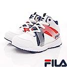 FILA頂級童鞋款 韓系復古鞋款 EI11S-123白藍紅(中大童段)