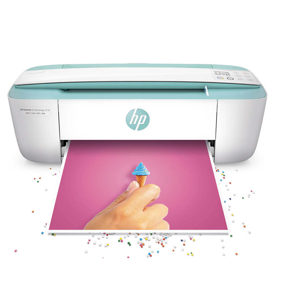 HP DJ3721迷你行動列印噴墨複合機-粉漾綠(Wifi/影印/列印/掃描)