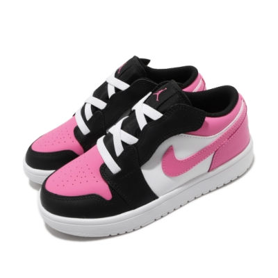 Nike 休閒鞋 Jordan 1 Low ALT 童鞋 經典款 喬丹一代 魔鬼氈 中童 穿搭 白 粉 CD7226106