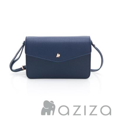 aziza CLARA 信封蓋皮夾包 藍