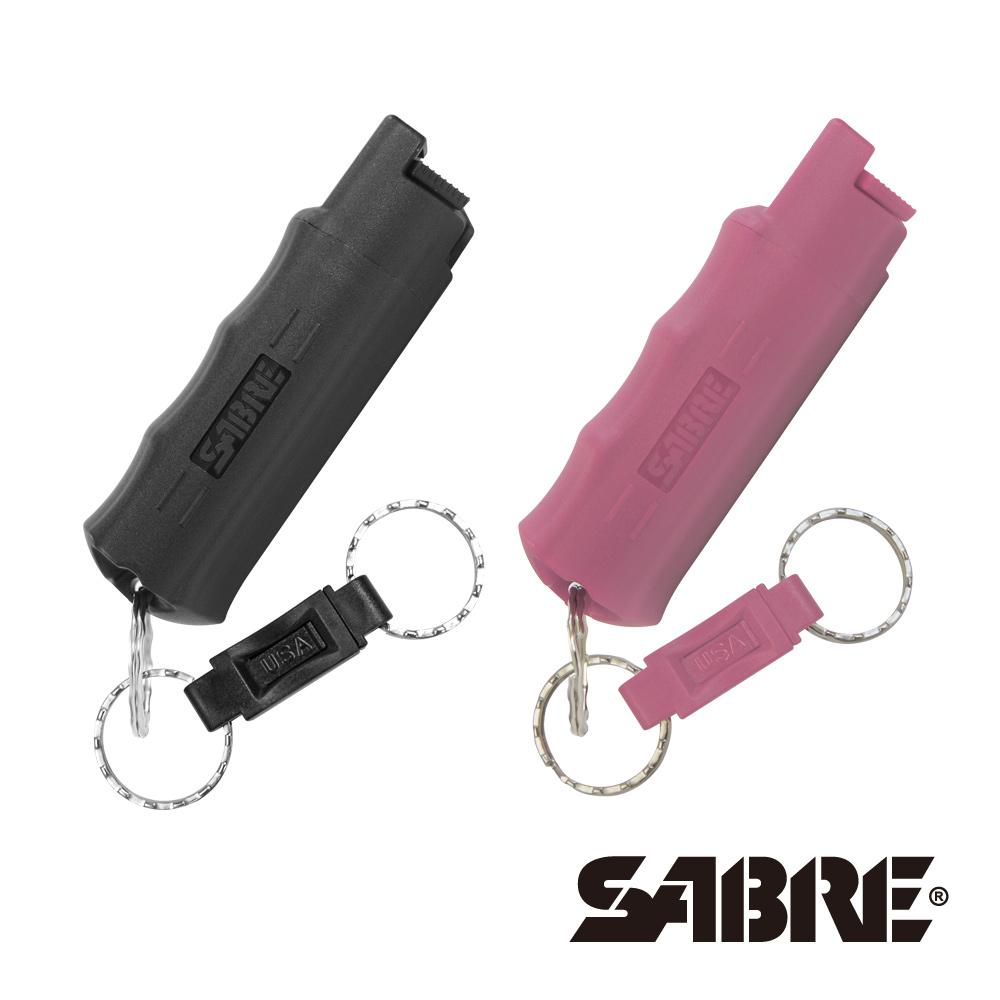 膠型快拆(粉紅戰士,黑武士)-兩入組-SABRE沙豹防身噴霧