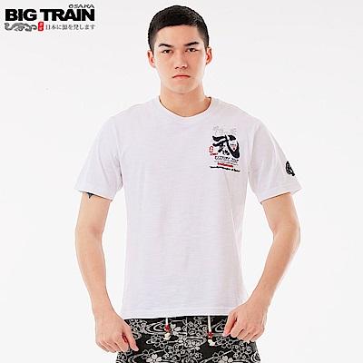 BigTrain 武魂文字潮流圓領短袖-男-白