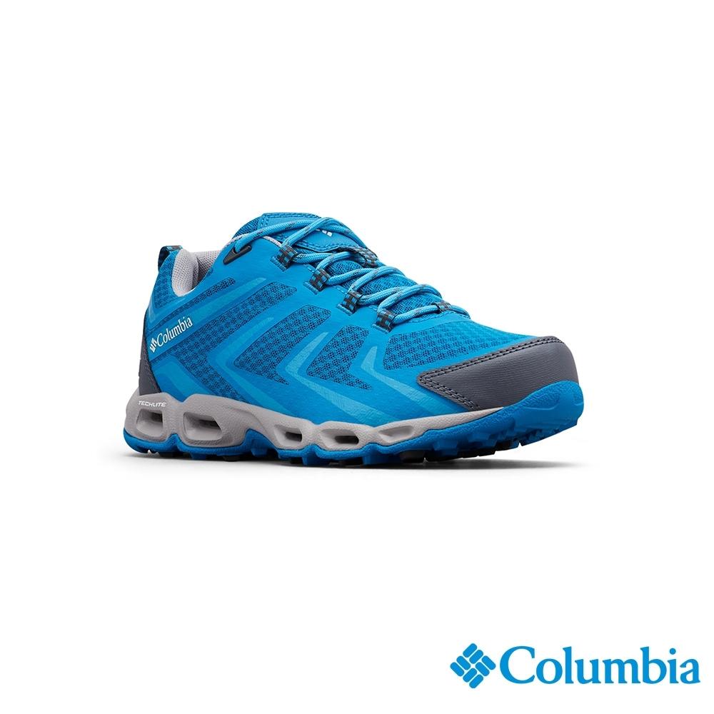 Columbia 哥倫比亞 女款-Outdry防水健走鞋-藍色
