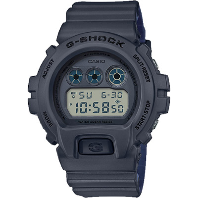 G-SHOCK 一級玩家多功能數位男錶-深灰X深藍(DW-6900LU-8D)/50mm