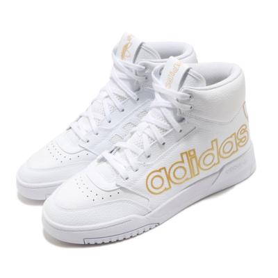 adidas 休閒鞋 Drop Step XL 復古 高筒 男鞋 愛迪達 三葉草 皮革鞋面 穿搭推薦 白 金  FV4874