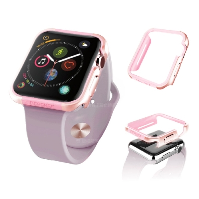 刀鋒Edge Apple Watch Series 5 40mm 鋁合金雙料保護殼 玫瑰金