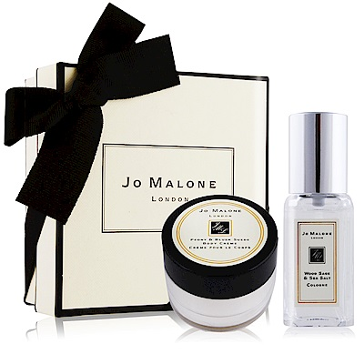 Jo Malone 經典潤膚香氛禮盒-鼠尾草與海鹽香水9ml+牡丹與胭紅麂絨潤膚霜15ml