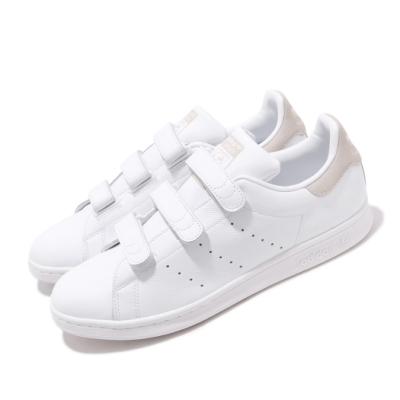 adidas 休閒鞋 Stan Smith 復古 低筒 男鞋 海外限定 愛迪達 三葉草 魔鬼氈 史密斯 白 灰 CQ2634
