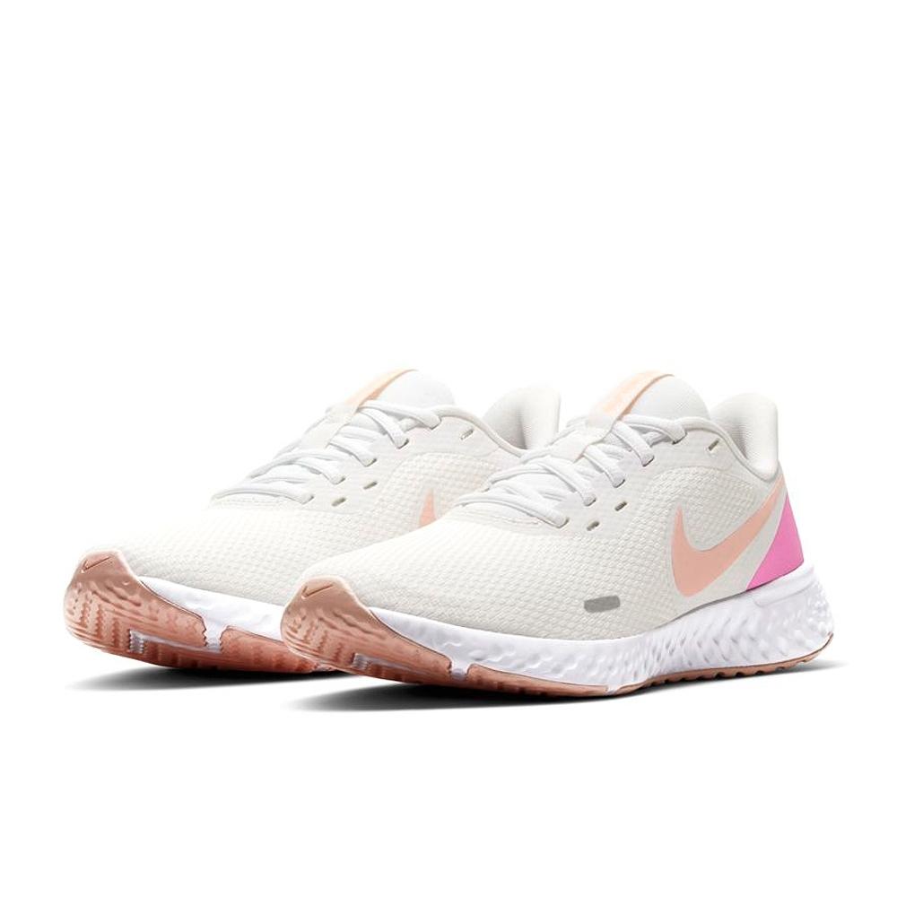 NIKE  輕量 訓練 慢跑 運動鞋  女鞋  米白粉  BQ3207103  WMNS REVOLUTION 5