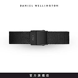 DW 錶帶 12mm寂靜黑米蘭金屬編織錶帶