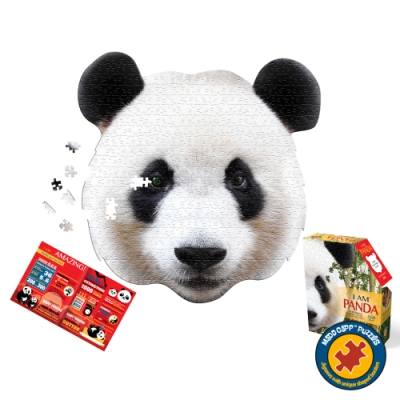 【Madd Capp】I AM 拼圖, 我是貓熊, 550 系列 | 極限逼真動物、驚嘆大尺寸、難度等同1000片