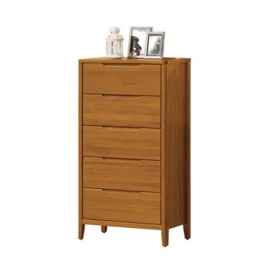 H&D 米堤柚木色2尺五斗櫃