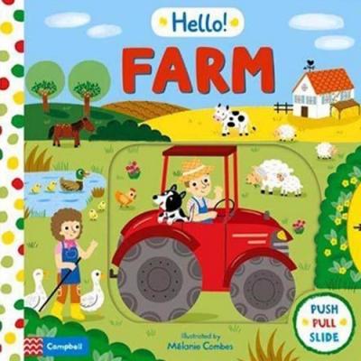Hello Farm 哈囉!農場硬頁操作推拉書