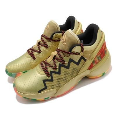 adidas 籃球鞋 DON Issue 2 GCA 男鞋 愛迪達 中筒 米契爾 Bounce中底 金 彩 FW9050