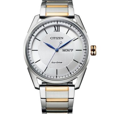 CITIZEN星辰 GENT S 經典格紋紳士腕錶-42mm(AW0084-81A)