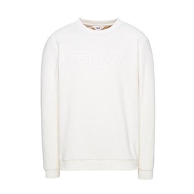 FILA 男款圓領T恤-米白 1TES-5100-IV