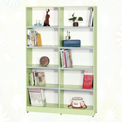 文創集 巴莉 環保4尺南亞塑鋼開放式10格書櫃/收納櫃-118.5x31x180cm免組