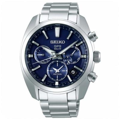 SEIKO精工5X53雙時區太陽能GPS衛星錶-藍(SSH019J1/X53-0AJ0B)