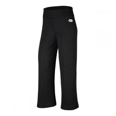Nike 寬褲 NSW Ribbed Trousers 女款 運動休閒 喇叭褲 舒適 修身 穿搭推薦 黑 白 CU5357010