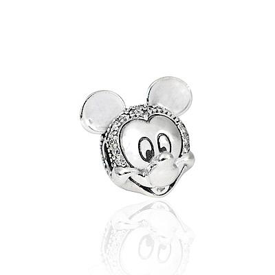 Pandora 潘朵拉 迪士尼系列  魅力閃耀米奇鑲鋯 純銀墜飾 串珠
