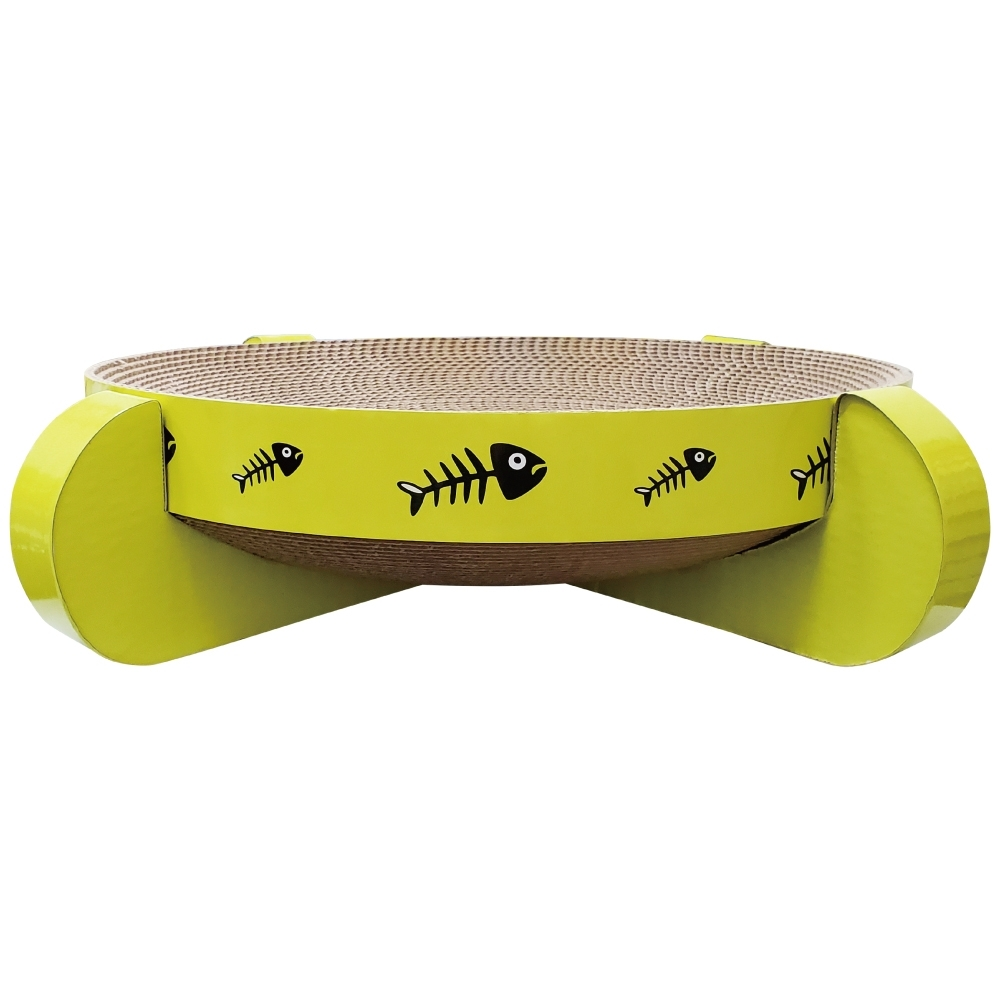 微笑汪喵-四腳碗架造型貓用紙抓板