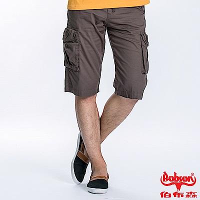 BOBSON 男款貼袋短褲(兵綠190-41)