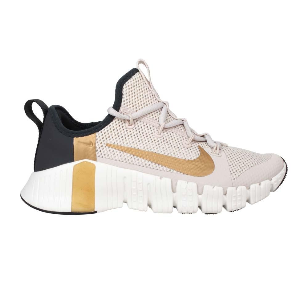 NIKE WMNS  FREE METCON 3 女運動鞋-訓練 慢跑 CJ6314170 淺灰金