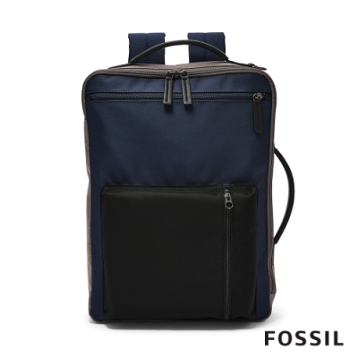 FOSSIL BUCKNER 行動族尼龍信差後背包/電腦包-深藍色 MBG9491406