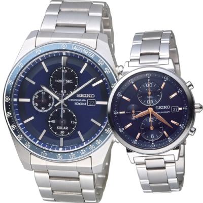SEIKO 傾心之戀時尚對錶(SSC727P1+SNDV21P1)