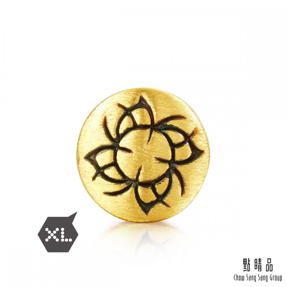 點睛品 999純金 Charme XL 酷黑系列 權力 黃金串珠