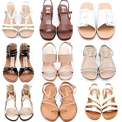 [時時樂限定]River&Moon夏季精選涼鞋 限時均價