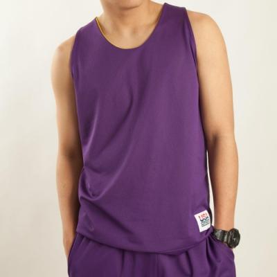 【FIVE UP】男款雙面穿吸排籃球背心-紫