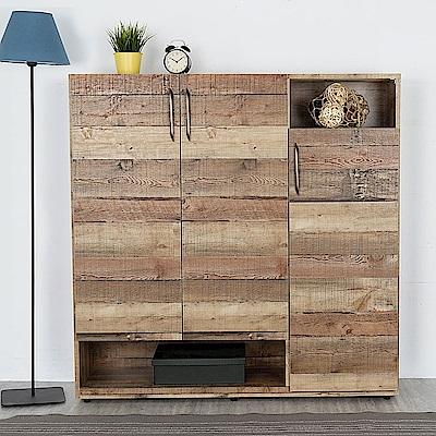 Homelike 雷諾復古風4尺置物櫃-121x36x122cm