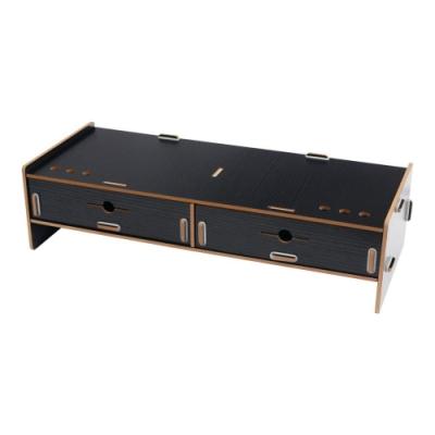TRENY 加厚《雙抽》-電腦螢幕增高架-黑
