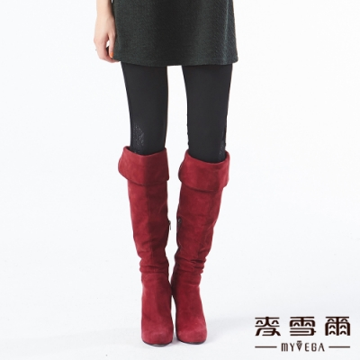 【麥雪爾】蕾絲拼接雙側口袋彈性八分褲