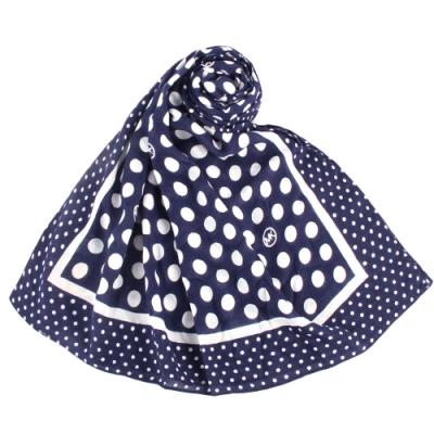 MICHAEL KORS 可愛圓點點圖案披肩薄圍巾-深藍色