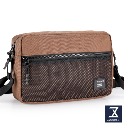 74盎司 MOBILE 網狀橫式側背包[LG-900-MO-W]咖啡