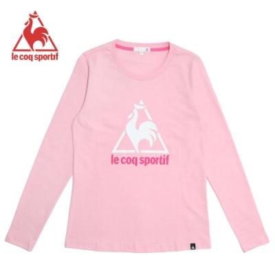 le coq sportif 法國公雞牌休閒長袖T恤 女-粉紅