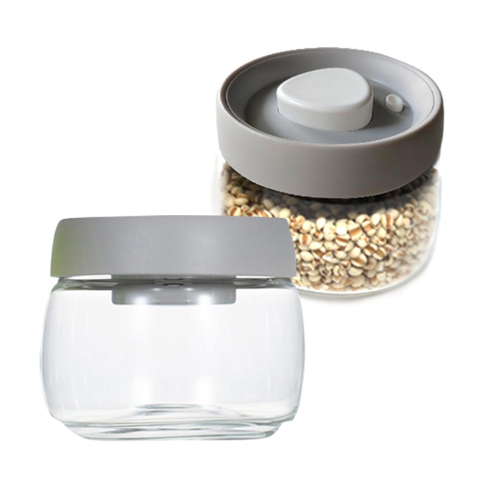 TIMEMORE 真空玻璃密封罐-400ml-灰蓋