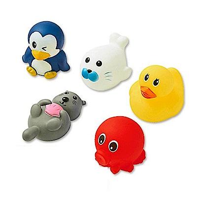 西松屋 Smart Angel 可愛動物造型洗澡玩具(5入組)