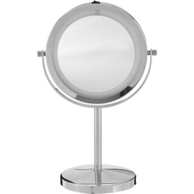 《Premier》Clara雙面環燈桌鏡(銀)