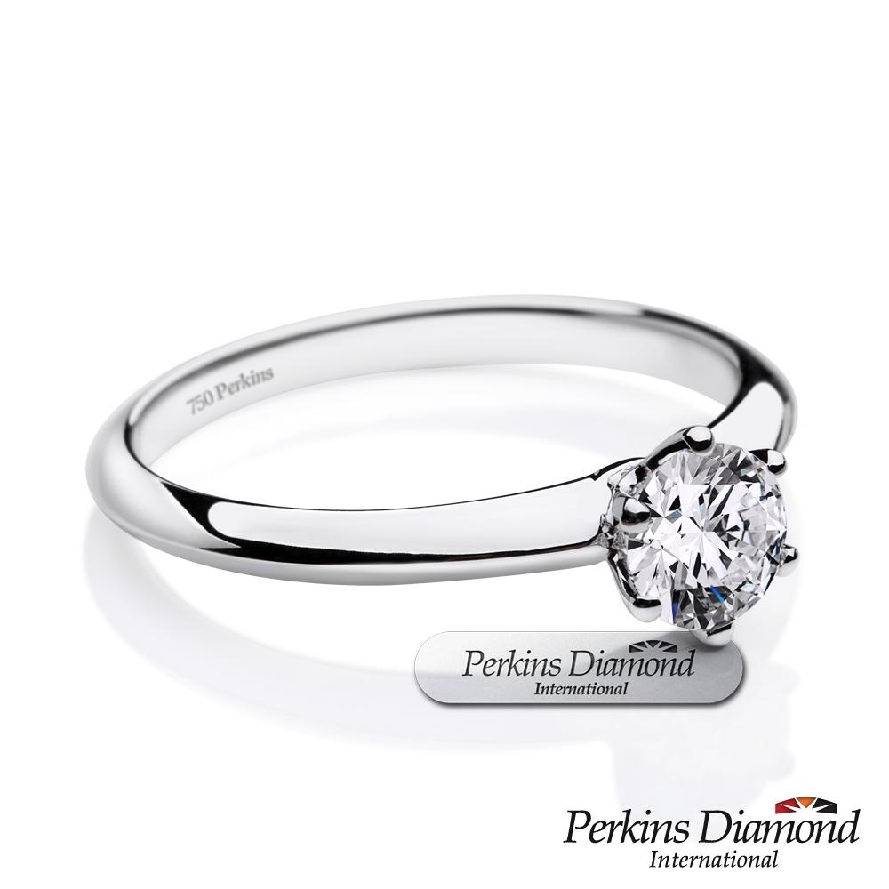 PERKINS 伯金仕-GIA 經典六爪系列 E/SI1 0.50克拉鑽石戒指