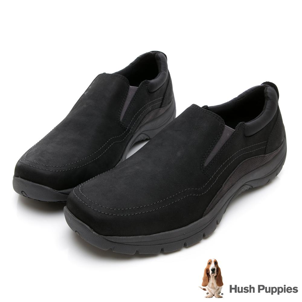 Hush Puppies Bounce Max 黃金大底休閒鞋-黑色