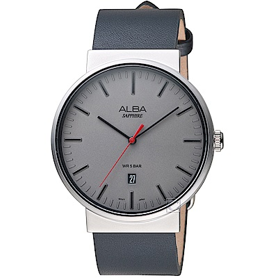 ALBA雅柏簡約潮流時尚腕錶(AS9H45X1)-銀灰
