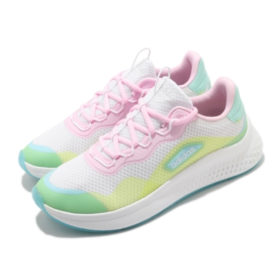 adidas 慢跑鞋 Primrose Sleek 運動 女鞋 愛迪達 輕量 透氣 舒適 避震 穿搭 白 彩 FZ3215