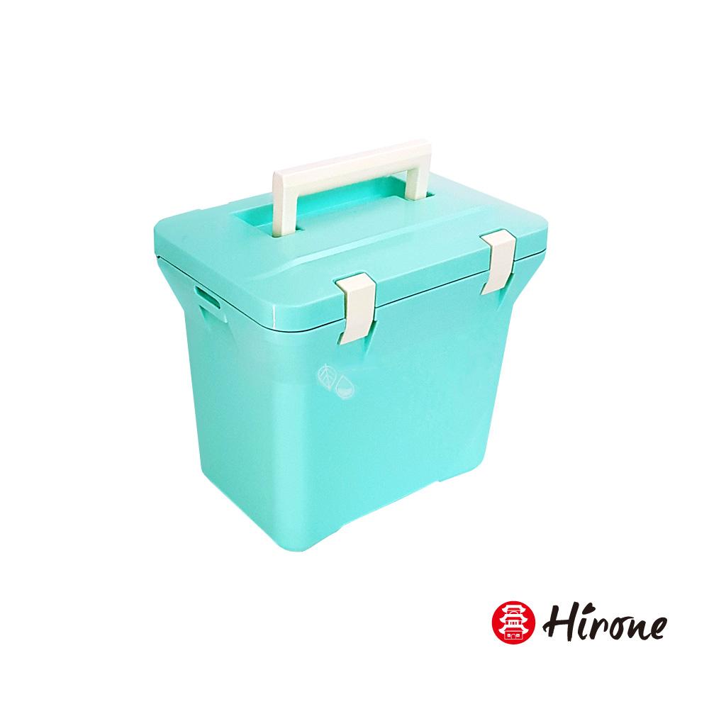 日本Hirone日本製-繽紛假日-便攜式大容量戶外冰桶-7公升-粉末藍