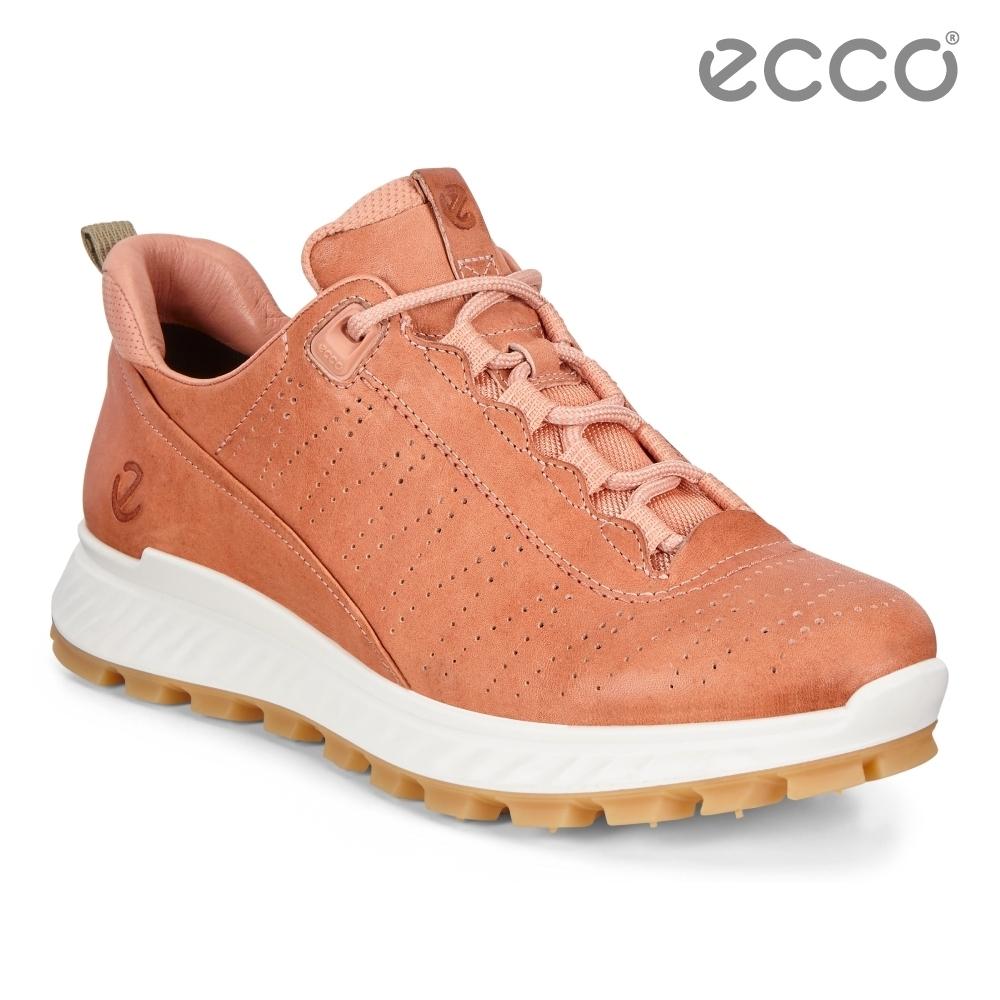 ECCO EXOSTRIKE W 時尚輕量運動戶外休閒鞋 女鞋-粉紅