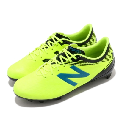 New Balance 足球鞋 Furon 3.0 寬楦 運動 女鞋 紐巴倫 輕量 支撐 包覆 練習鞋 大童 黃 黑 JSFDFHM3W