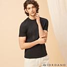 GIORDANO 男裝百搭素色圓領T恤-03 標誌黑